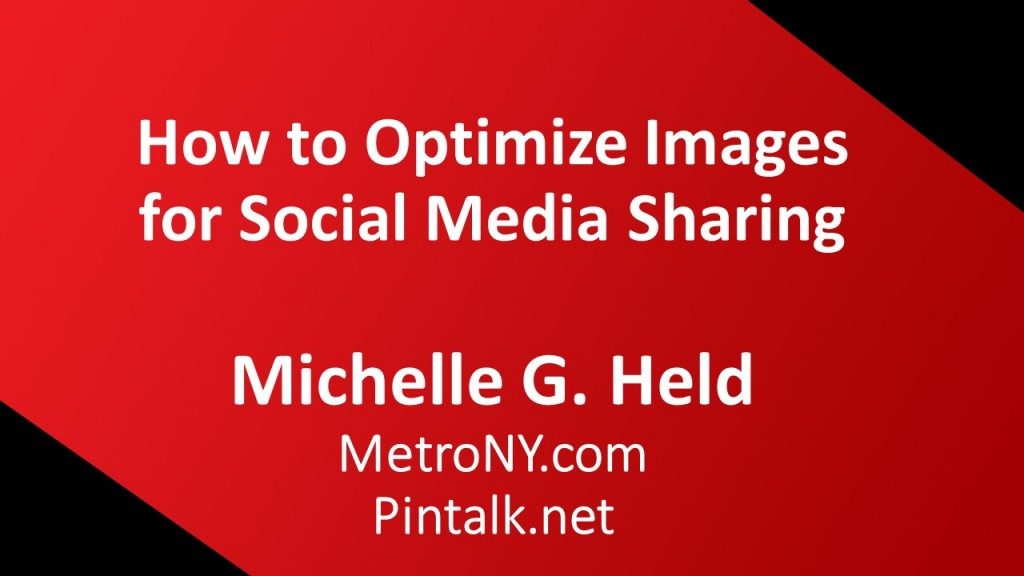 Optimize images social media tutorial