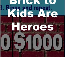 Give a Brick to Kids Are Heroes