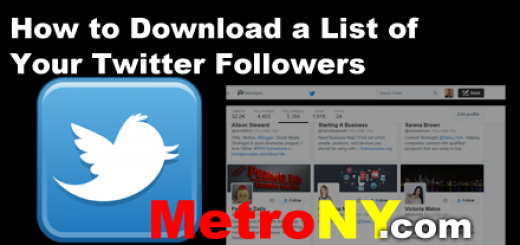 How to Download a List of Twitter Followers