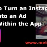 turn instagram post to advertisement from within app